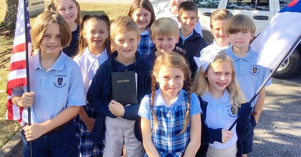 School Pledge of Allegiance to the Bible and to the Christian flag